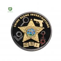 Buy cheap Double Side double plating Crime Scene factory supply Challenge Coins from wholesalers