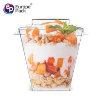 Buy cheap Party supplies dessert square food grade hard plastic cups with lid from wholesalers