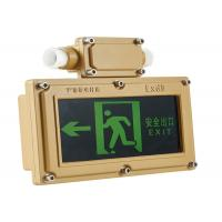 Buy cheap Stainless Steel Exit Sign With Emergency Lights Anti Corrosive Hanging Type from wholesalers