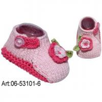 Buy cheap Baby Shoe,Fashion Bady Shoes, Crochet Baby Shoe, #06-53101--6 from wholesalers