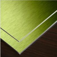 Buy cheap Gold Brushed Aluminum Composite Panel 1mm -4mm from wholesalers