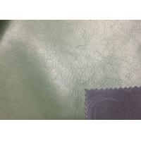 Buy cheap 0.95 Mm Olive Faux Leather Fabric , Durable Synthetic Nubuck Leather Abrasion Resistant from wholesalers