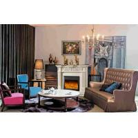 Living Room Furniture Antique 1.5m European Electric Fireplace With LED Fake Flame Manufactures