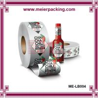 Buy cheap Glossy sliver printed label sticker,  spice sauce bottle package sticker ME-LB004 from wholesalers