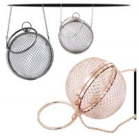 Buy cheap Wholesales Novelty Girls Purses Metal Handle Straps Handle Wire Meshes Handbag for Women Evening Bags from wholesalers