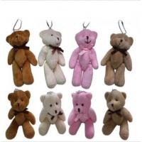 Wholesale 5 Inch Plush Keychain Toys , Small Teddy Bear Keychain Hanging Ornament from china suppliers