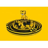 Buy cheap Outdoor Game Inflatable Amusement Park  For Children , PVC Tarpaulin Yellow Cat Zoo Theme from wholesalers