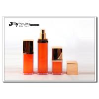 Wholesale Promotional 15ml Empty Square Plastic PP Airless Bottle Orange Skin Care Cream Bottle from china suppliers