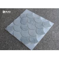 Wholesale Natural Stone Carrara Marble Mosaic Tile Ginkgo Leaf Shaped Moisture Proof from china suppliers