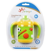 Buy cheap 6 Month 6 Ounce Children Soft BPA Free Flexible Baby Sippy Cup from wholesalers