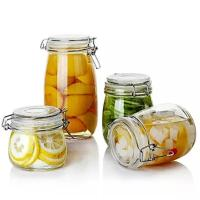 Buy cheap Stocked Airtight Glass Jam Jar Canister Multi Capacity Soda Glass Material from wholesalers