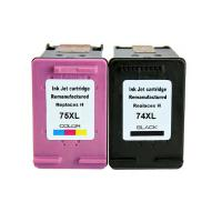 China For HP 74 Compatible Remanufactured ink cartridge For HP 74  HP 75 ink cartridge HP74 HP75 on sale