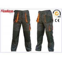 Buy cheap Grey / Black Lightweight Cargo Trousers Holster Pocket Work Wear With Multi Pocket from wholesalers
