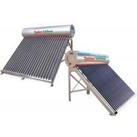 Buy cheap 155 - 450 L Capacity Vacuum Tube Solar Water Heater , Passive Solar Water Heater product