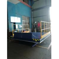 Buy cheap Hydraulic Electric Scissor Lift , Dock Lift With Non Skid Checkered Plate And Manual Lap-jointed Plate from wholesalers