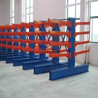 Buy cheap Nanjing Heavy Duty Timber Cantilever Rack Steel Pipe Cantilever Storage Rack System from wholesalers