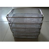 Buy cheap Sterilisation DIN  Stainless Steel Wire Basket Tray For Medical Or Shopping product