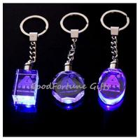 Buy cheap promotion gift Crystal Colourful Keychain With Light from wholesalers