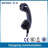 Buy cheap Engineering PC/ABS noise cancelling wall jack payphone kiosk vandal resistence telephone handset from wholesalers