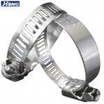 Buy cheap American / German Type Stainless Steel Hose Clamps Pipe Metal Tie Higher Torque from wholesalers