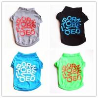 Wholesale new pet supply small dogs apparel clothing, cotton dog Tshirt, dog product from china suppliers