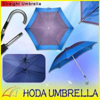 Buy cheap Manual open straight umbrella 23''*6k polyester fabric double layer from wholesalers