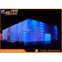 Wholesale PVC Coated Nylon Inflatable Cube Tent With Led Lighting / Blow Up Event Tent from china suppliers