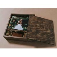Wholesale 4 X 6 Wooden Photo Album Box , Custom Wooden Wedding Photo Box With Dividers from china suppliers