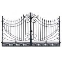 Buy cheap Modern Stylish House Wrought Iron Main Gate Designs Customized Size from wholesalers