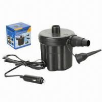 China 12V DC Electric Air Pump for Cigarette Plug with 2 Adapters to Fit Different Valve Sizes on sale