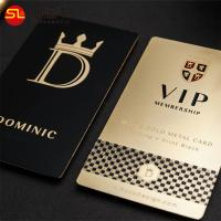 Buy cheap Free sample gold plated my metal laser cut hologram vip business cards manufacturer in China from wholesalers