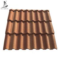 Buy cheap Decras Roof Kenya high quality stone coated metal roofing sheets, red Milano roof tile price from wholesalers