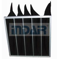 Buy cheap High Efficiency Air Conditioner Air Filter Activated Carbon Black Bag Pocket for Hospital HVAC system from wholesalers