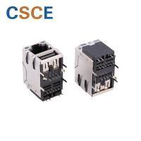 Buy cheap PEG Shielded RJ45 Connector Transformer Phosphor Bronze Contact Material from wholesalers
