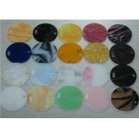Buy cheap Round 3mm To 30mm Thick Marbled Acrylic Sheet Black / White / Orange from wholesalers