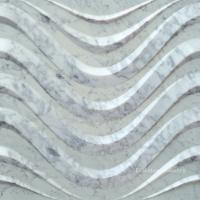 Wholesale 3D Natural Feature Carrara White Stone Wall Art Panels from china suppliers