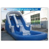 Buy cheap Amusement Park Bounce Round Water Slide Inflatable Slide With Pool from wholesalers