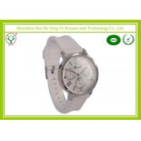 Buy cheap White Watchband 1 - 3 ATM Silicone Strap Watches For Ladies Logo Debossed from wholesalers