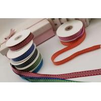 Buy cheap Gift Wrapping Decoration Stitched Grosgrain Ribbon With Dark Edge And Stitch from wholesalers