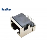 Buy cheap PCB 8pin RJ45 Modular Jack Connector Right Angle With LED Light 1.5A from wholesalers