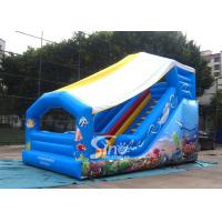 Buy cheap Outdoor Kids Sea World Small Inflatable Slide With Cover On Top For Parties product