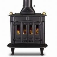 Buy cheap Cast Iron Stove with 230 x 90 x 4mm Glass, Ash Box and Grate, Measures 90 x 63 x 106.5cm from wholesalers