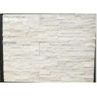 Buy cheap Snow White Natural Marble Cultured Stone Siding For Houses Building Materials from wholesalers