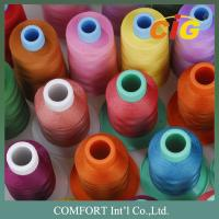 China Customized Color Sewing Machine Threads 100% Spun Polyester For Garment on sale