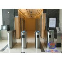 Buy cheap Biometric Access Control Flap Barrier , Full Automatic Barrier Gate for Library / Theater from wholesalers