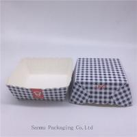 Wholesale Disposable Square Cupcake Liners , Black And White Checkered Cupcake Wrappers from china suppliers