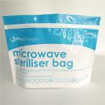 Buy cheap Food Storage Microwave Steriliser Bottom Gusset Bags Resealable Top Zipper Custom from wholesalers