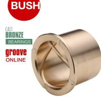Buy cheap Precision Flanged Groove Cast Bronze Bushings Spiral Inside Groove Bearings from wholesalers