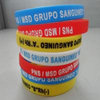Buy cheap Bulk Cheap Silicone Wristbands , Sports Silicone Bracelets / Customized Wristbands from wholesalers