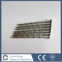3.4 X 75MM  Stainless Steel A4 Twist Shank Flat head Nails for framing